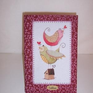 Fotóalbum madaras (textilcseppek) - Meska.hu