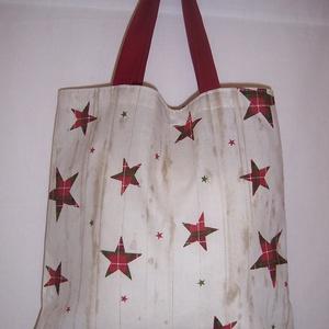 Ajándék átadó kis táska csillagos (textilcseppek) - Meska.hu