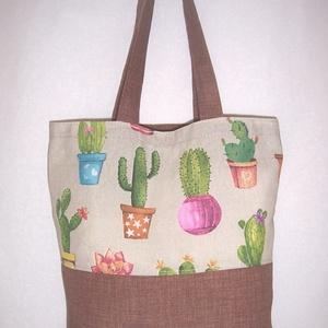 Kaktusz mintás táska  (textilcseppek) - Meska.hu