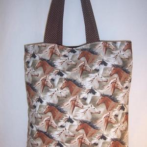 Ló mintás táska  (textilcseppek) - Meska.hu