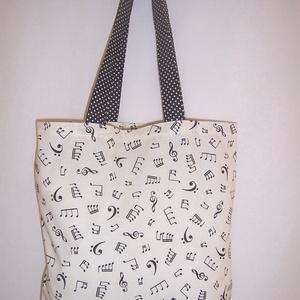 Hangjegy mintás táska  (textilcseppek) - Meska.hu