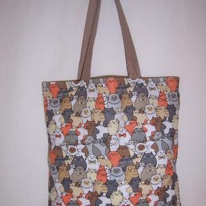 Sok cica mintás táska  (textilcseppek) - Meska.hu