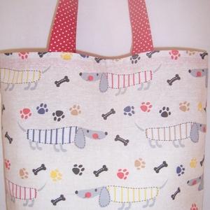 Tacskó mintás táska  (textilcseppek) - Meska.hu