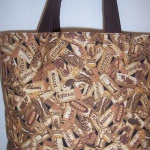 Dugó mintás táska  (textilcseppek) - Meska.hu
