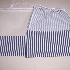 Textilzsák 2 db-os szett kék csíkos mintás , NoWaste, Bevásárló zsákok, zacskók , Otthon & lakás, Konyhafelszerelés, Varrás, Szeretnél figyelni a környezetedre?\n\nMegóvni gyermekednek, unokádnak a természetet.\n\nHasználj minél ..., Meska