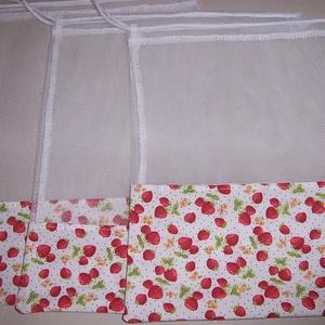 Textilzsák 3 db-os szett szamóca mintás  (textilcseppek) - Meska.hu