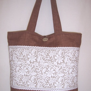 Csipke mintás táska bélelt normál füllel (textilcseppek) - Meska.hu