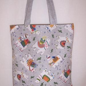 Láma mintás kis táska színes  (textilcseppek) - Meska.hu