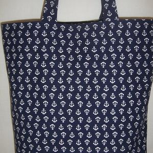 Kék vasmacska mintás táska  (textilcseppek) - Meska.hu