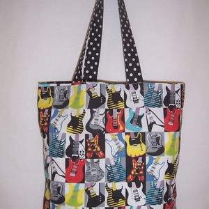 Gitár mintás táska  (textilcseppek) - Meska.hu