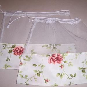 Textilzsák 2 db-os szett rózsa mintás, NoWaste, Bevásárló zsákok, zacskók , Táska, Divat & Szépség, Táska, Szatyor, Otthon & lakás, Konyhafelszerelés, Varrás, Szeretnél figyelni a környezetedre?\n\nMegóvni gyermekednek, unokádnak a természetet.\n\nHasználj minél ..., Meska