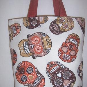 Koponya mintás táska  (textilcseppek) - Meska.hu
