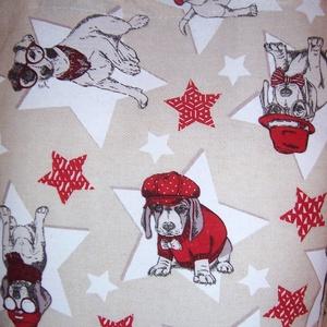 Kutya mintás táska piros (textilcseppek) - Meska.hu