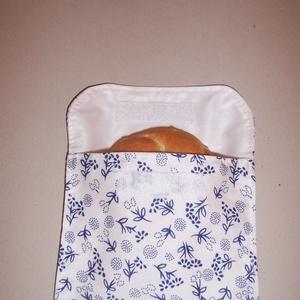 NoWaste - SNACKBAG kék virágos, NoWaste, Bevásárló zsákok, zacskók , Textilek, Textil tároló, Gyerek & játék, Baba-mama kellék, Varrás, Használj minél több területen újrahasznosítható termékeket.\n\nCseréld le papírszalvétádat, műanyag do..., Meska