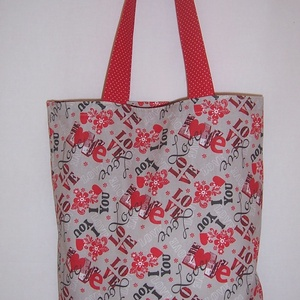 Love feliratos kis táska , NoWaste, Bevásárló zsákok, zacskók , Táska, Divat & Szépség, Táska, Szatyor, Válltáska, oldaltáska, Varrás, \nLove feliratos 100 % vékony vászon anyagból készült ez a táska!\n\nOldalán és alján dupla varrással e..., Meska