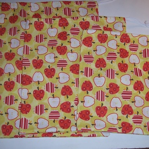 Textilzsák 3 db-os szett almás (textilcseppek) - Meska.hu