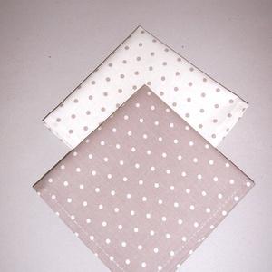 Textil szalvéta 2 db drapp pöttyös (textilcseppek) - Meska.hu