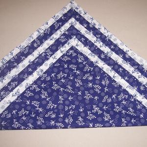 Textil szalvéta 6 db kékfestő mintás , NoWaste, Textilek, Kendő, Otthon & lakás, Konyhafelszerelés, Varrás, Textil szalvétát készítettem kékfestő mintás 100% pamutvászonból.\n\nEgyedivé teheted a mindennapi ter..., Meska