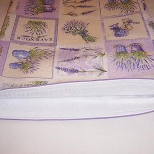 Kenyeres zsák PUL béléssel levendula patchwork mintás (textilcseppek) - Meska.hu