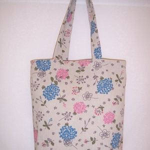 Kék virág mintás táska  (textilcseppek) - Meska.hu