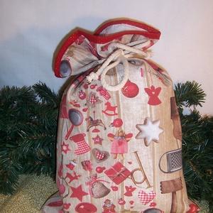 Ajándék átadó textilzsák karácsonyi konyhás, Otthon & Lakás, Karácsony & Mikulás, Karácsonyi csomagolás, Varrás, Sok ajándékot kell csomagolnod karácsonykor?\nVagy szeretnél egy különleges csomagolást.\nVálassz egy ..., Meska