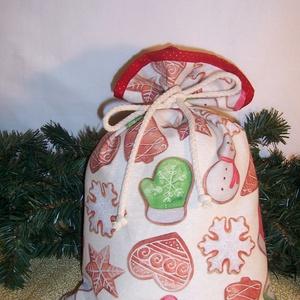 Ajándék átadó textilzsák mézes, Otthon & Lakás, Karácsony & Mikulás, Karácsonyi csomagolás, Varrás, Sok ajándékot kell csomagolnod karácsonykor?\nVagy szeretnél egy különleges csomagolást.\nVálassz egy ..., Meska