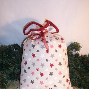 Ajándék átadó textilzsák csillag, Otthon & Lakás, Dekoráció, Sok ajándékot kell csomagolnod karácsonykor? Vagy szeretnél egy különleges csomagolást. Válassz egy ..., Meska