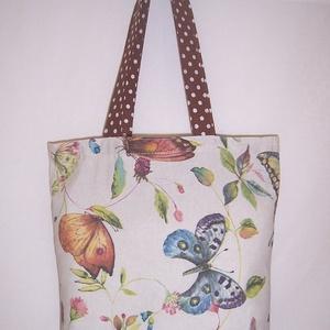Pillangó mintás táska  (textilcseppek) - Meska.hu
