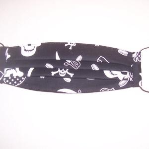 Textilmaszk fekete halálfej mintás (textilcseppek) - Meska.hu