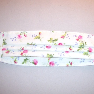 Textilmaszk pink virág mintás (textilcseppek) - Meska.hu