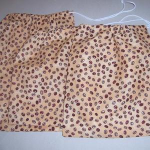 Textilzsák 3 db-os szett kávés   (textilcseppek) - Meska.hu