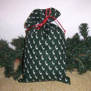 Mikulás zsák szürke zöld szarvas, Karácsony & Mikulás, Mikulás, Varrás, Hagyományőrző vagy!\n\nSzeretnél az ünnepek alatt is figyelni a környezetedre is.\n\nVálassz a műanyag m..., Meska