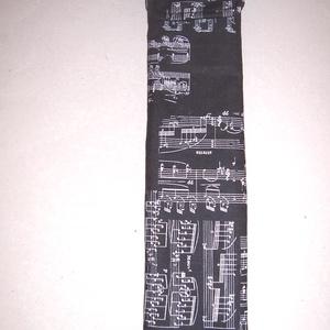Furulyatok fekete kotta mintás , Táska & Tok, Pénztárca & Más tok, Telefontok, Varrás, Furulyatokot készítettem fekete kotta mintás vászon anyagból.\n\nFekete vászon anyaggal béleltem, a bé..., Meska