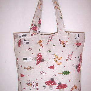 Karácsonyi gomba mintás táska  (textilcseppek) - Meska.hu