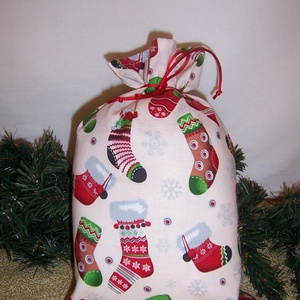 Mikulás zsák krém színű csizmás, Karácsony & Mikulás, Mikulás, Varrás, \nHagyományőrző vagy!\n\nSzeretnél az ünnepek alatt is figyelni a környezetedre is.\n\nVálassz a műanyag ..., Meska