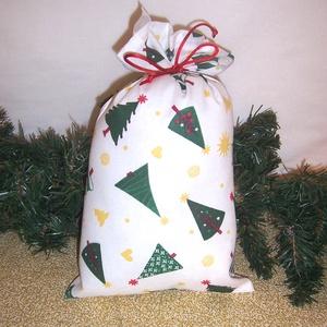 Mikulás zsák zöld fenyős , Karácsony & Mikulás, Mikulás, Varrás, Hagyományőrző vagy!\n\nSzeretnél az ünnepek alatt is figyelni a környezetedre is.\n\nVálassz a műanyag m..., Meska