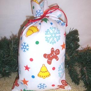 Mikulás zsák mézes , Karácsony & Mikulás, Mikulás, Varrás, Hagyományőrző vagy!\n\nSzeretnél az ünnepek alatt is figyelni a környezetedre is.\n\nVálassz a műanyag m..., Meska