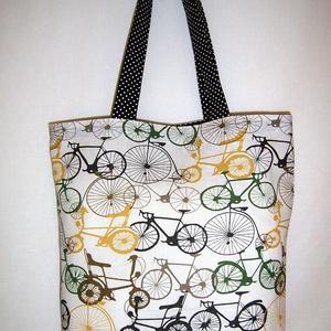 Kerékpár mintás táska  (textilcseppek) - Meska.hu