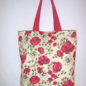 Pipacs mintás táska  (textilcseppek) - Meska.hu