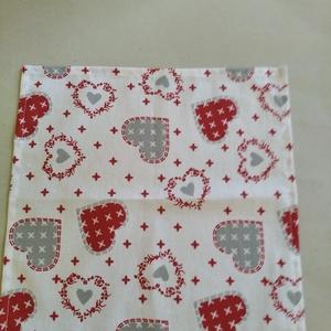 Textil szalvéta 2db piros mintás (textilcseppek) - Meska.hu