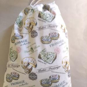 Kenyeres zsák PUL béléssel sajt mintás  (textilcseppek) - Meska.hu