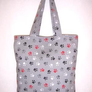 Szürke tappancs mintás táska  (textilcseppek) - Meska.hu