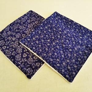 Törlőkendő szett 2 db-os kékfestő mintás, Otthon & Lakás, Konyhafelszerelés, Konyharuha & Törlőkendő, Varrás, Tedd színesebbé a konyhádat, fürdőszobádat mosható törlőkendővel.\n\nJó nedvszívó frottír és színes 10..., Meska