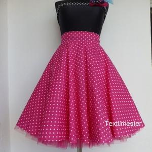 Cherryland Design Pink-Fehér   pöttyös rockabilly szoknya./Alsószoknyával, Táska, Divat & Szépség, Női ruha, Ruha, divat, Szoknya, Varrás, Pink-Fehér   Pöttyös Rockabilly szoknya./AlsószoknyávalRockabilly \nKlasszikus stílusú  vidám szoknya..., Meska