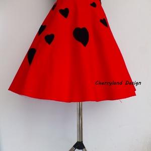 Cherryland Design Valentine\'s Collection/ Vörös Szívek  szoknya /Alsószoknya., Táska, Divat & Szépség, Női ruha, Ruha, divat, Szoknya, Szerelmeseknek, Ünnepi dekoráció, Dekoráció, Otthon & lakás, Varrás, Cherryland Design Valentine\'s Collection/ Vörös Szívek  szoknya /Alsószoknya.\nEgyedi méretben és kiv..., Meska