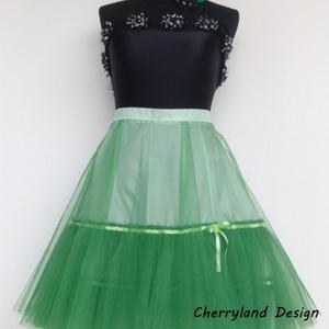 Cherryland Design Törtfehér Cseresznyés szoknya , alsószoknyával. - ruha & divat - női ruha - szoknya - Meska.hu