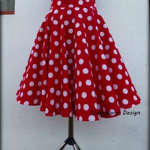 Minnie Rockabilly Pin Up stílusú pöttyös szoknya ., Táska, Divat & Szépség, Ruha, divat, Női ruha, Szoknya, Varrás, Minnie Rockabilly/Pin Up stílusú pöttyös szoknya\nKlasszikus stílusú vidám szoknya. Pöttyös  pamutvás..., Meska