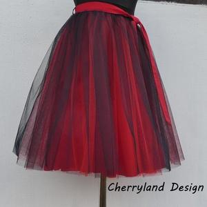 Cherryland Design Piros Árnyalat Tüll szoknya /Red Shades Tulle skirt, Táska, Divat & Szépség, Gyerekruha, Ruha, divat, Női ruha, Szoknya, Varrás, Cherryland Design Piros-Fekete Árnyalat Tüll Szoknya\n\nEgyedi méretek alapján , megrendelésre készül...., Meska