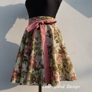 """Cherryland Design \""""Vintage\"""" virágmintás rockabilly szoknya., Táska, Divat & Szépség, Női ruha, Ruha, divat, Szoknya, Varrás, Cherryland Design \""""Vintage\"""" virágmintás Rockabilly szoknya.\nKlasszikus Rockabilly stílusú  vidám szo..., Meska"""
