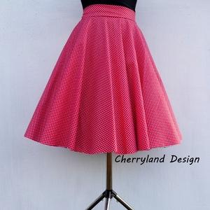 Cherryland Design Piros -Fehér kis pöttyös rockabilly/Menyecske szoknya./Alsószoknyával, Táska, Divat & Szépség, Női ruha, Ruha, divat, Szoknya, Varrás, Piros-Fehér   Kispöttyös Rockabilly -Menyecske szoknya./Alsószoknyával \nRockabilly /Menyecske szokny..., Meska